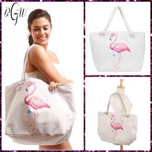 Handbags - 🆕Adorable Flamingo Canvas Tote Multipurpose